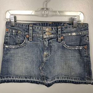 Hudson Denim Mini Skirt Distressed sz 26